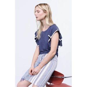 NWT Halogen faux wrap tassel skirt